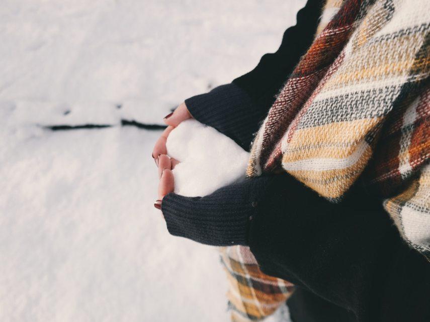 Winter Snow Ball Heart