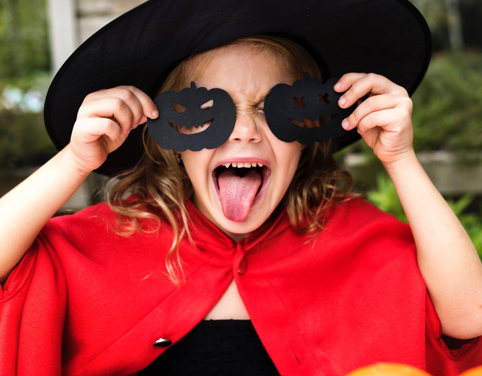 woman wearing halloween costume